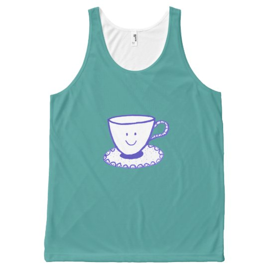 Débardeur Tout-imprimé Une tasse intéressante de thé
