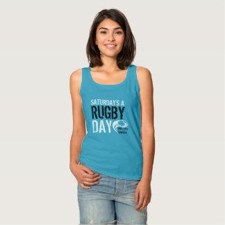 Débardeur Un BLEU de jour du rugby de samedi