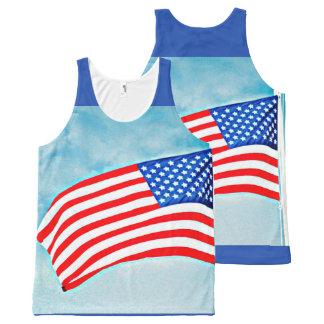 Débardeur unisexe de drapeau américain