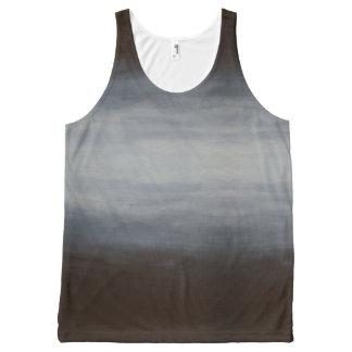 Débardeur unisexe gris, bleu, et noir d'Ombre