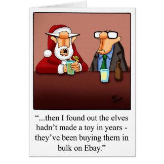 """D'Ebay d'humour de Noël carte de voeux de """"elfes"""