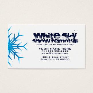 déblaiement de neige blanc de ciel cartes de visite