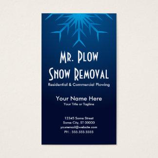 déblaiement de neige brillant de flocon de neige cartes de visite