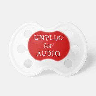 Débranchez pour l'audio tétines pour bébé