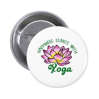 Débuts de bonheur avec du yoga badge