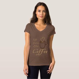 Débuts de la vie après Cofee - T-shirt de dames