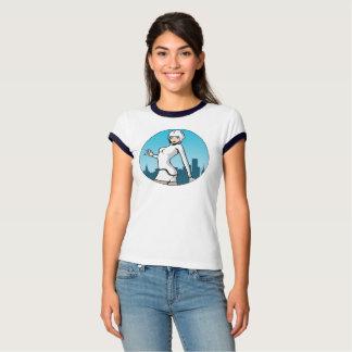 Décalage bleu - T-shirt de la sonnerie des femmes