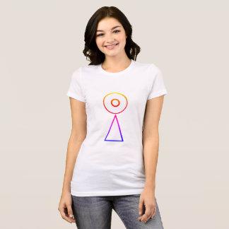 Décalage de Saturn d'arc-en-ciel de T-shirt de Fav