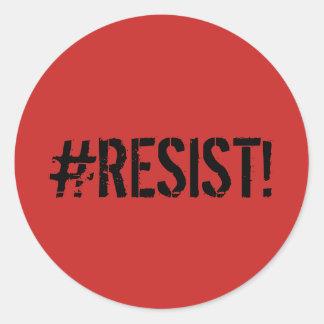 """décalque d'autocollant de """"#RESIST"""" Sticker Rond"""