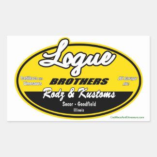 Décalque de frères de Logue Sticker Rectangulaire