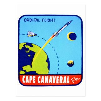Décalque vintage de Cap Canaveral de l'espace de Carte Postale