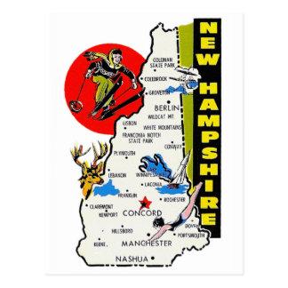 Décalque vintage de voyage d'état du New Hampshire Carte Postale