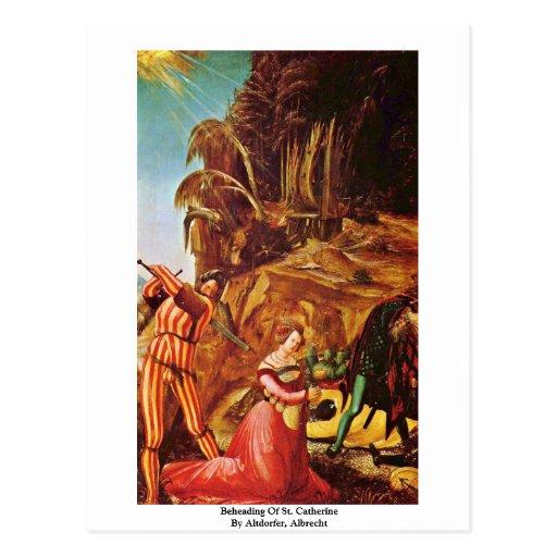 Décapitation de St Catherine par Altdorfer, Albrec Carte Postale
