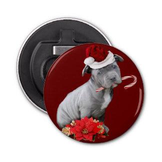 Décapsuleur Chiot de Pitbull de Noël