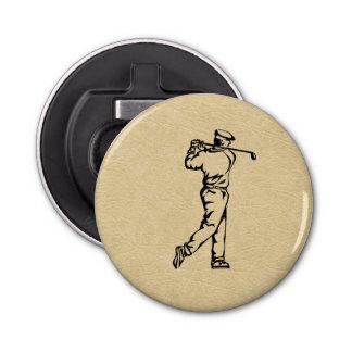Décapsuleur Conception de sport de golfeur simili cuir