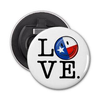 Décapsuleur Drapeau de sourire du Texas d'amour
