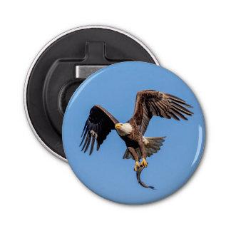 Décapsuleur Eagle chauve avec un poisson