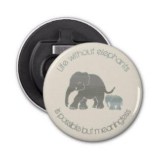 Décapsuleur Éléphant gris avec le slogan drôle inspiré de bébé