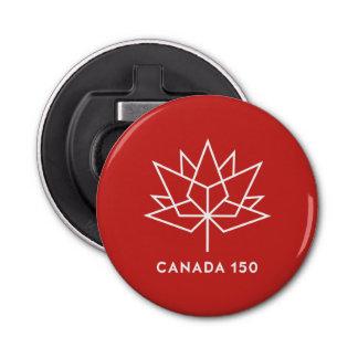Décapsuleur Logo de fonctionnaire du Canada 150 - rouge et