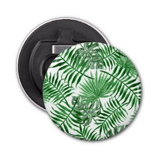 Décapsuleur Motif vert tropical d'été de palmettes