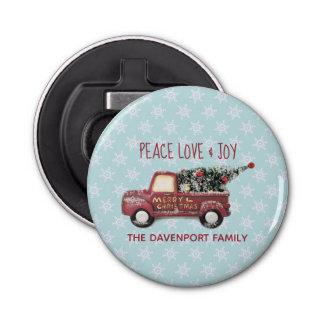 Décapsuleur Noël de camion de jouet d'amour et de joie de paix