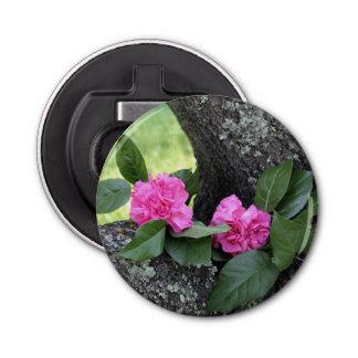 Décapsuleur Ouvreur de bouteille magnétique rose d'oeillets