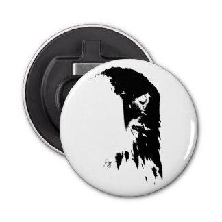 Décapsuleur Ouvreur noir et blanc d'Eagle chauve