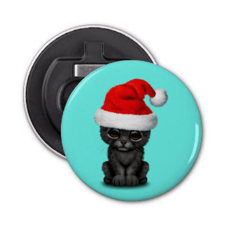 Décapsuleur Panthère noire mignonne CUB utilisant un casquette