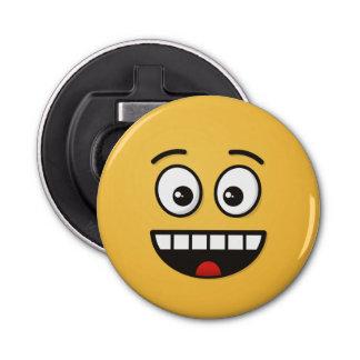 Décapsuleur Visage de sourire avec la bouche ouverte