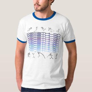 Décathlon X 10 tons de bleu de chemise T-shirt
