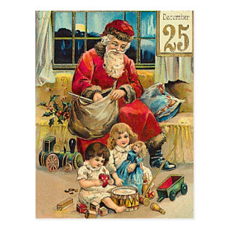 December25th - carte de voeux vintage de Noël Carte Postale
