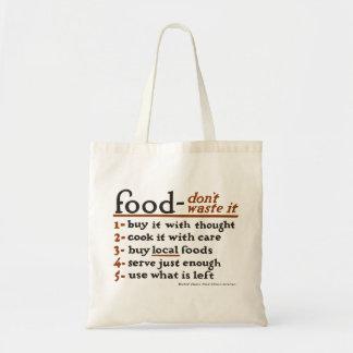 """""""Déchets de Nourriture-Don't il"""" sac fourre-tout à"""