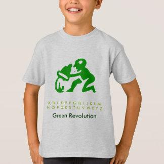 Déchets de vert d'alphabet t-shirt