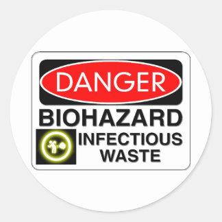 Déchets infectieux de Biohazard Sticker Rond