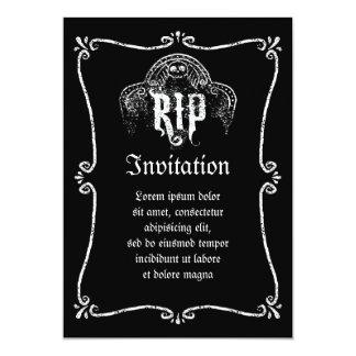 DÉCHIRURE CARTON D'INVITATION  12,7 CM X 17,78 CM
