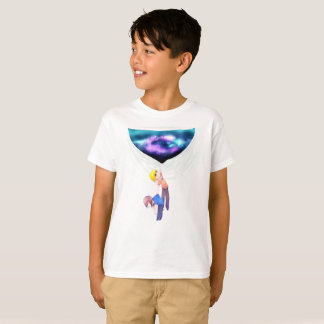 Déchirure du tissu t-shirt