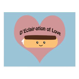 D'eclair-ation de l'amour carte postale