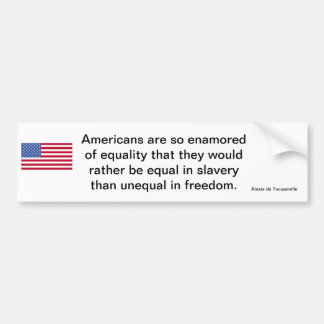 Déclaration américaine de liberté autocollant pour voiture