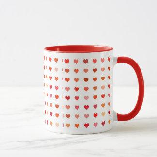 Déclaration d'amoureux de tasse d'amour de coeurs