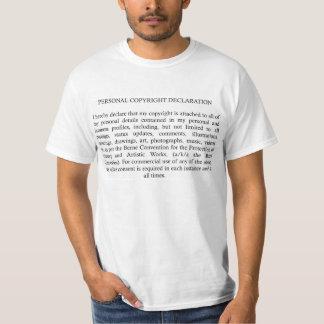 Déclaration de Copyright T-shirt