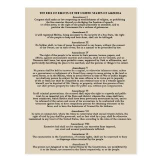 Déclaration des cartes postales des droits