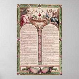 Déclaration des droites de l'homme, 1793 posters