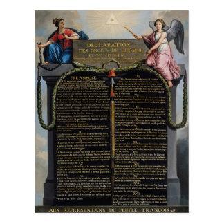 Déclaration des droites de l'homme et du citoyen carte postale