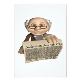 Déclaration d'indépendance carton d'invitation  12,7 cm x 17,78 cm