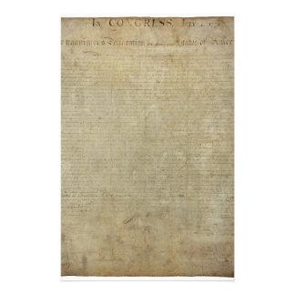 Déclaration d'indépendance originale papiers à lettres