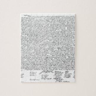 Déclaration d'indépendance puzzle