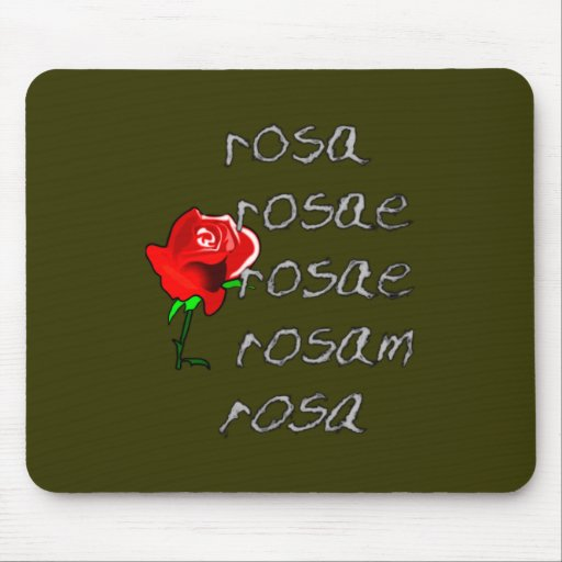 d clinaison rose deklination de latin rose de late tapis de souris zazzle. Black Bedroom Furniture Sets. Home Design Ideas