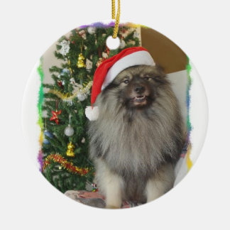 Déco de Noël Ornement Rond En Céramique