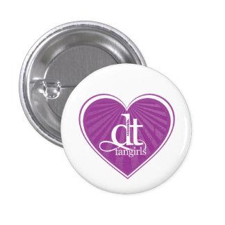 Décollement Fangirls (bouton pourpre de coeur) Badge Rond 2,50 Cm