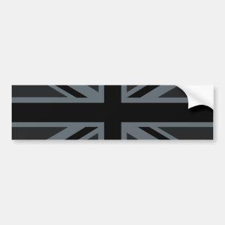 Décor britannique noir de drapeau d'Union Jack Autocollant Pour Voiture